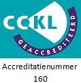 CCKL logo met accreditatienummer